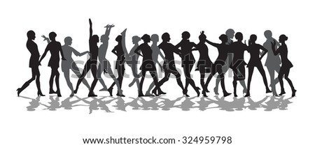 Silhouette of a Dancing Woman Vector Illustration EPS10