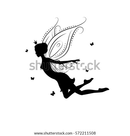 Fairy silhouette stock images royalty free images for Fairy cut out template