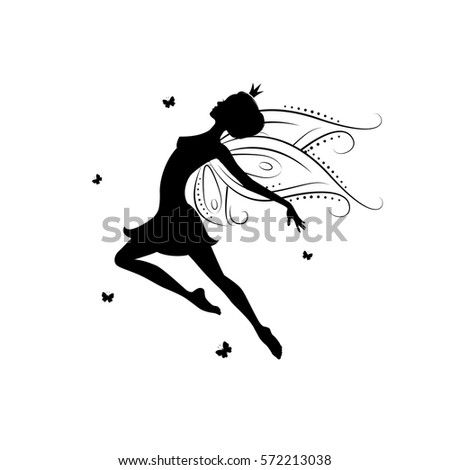 fairy cut out template - fairy silhouette stock images royalty free images