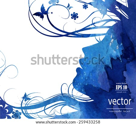 silhouette of a girl in profile with long hair - stock vector