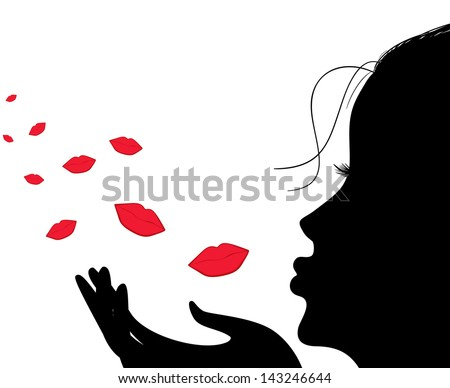 Flying Kiss Stock Images Royalty-Free Images U0026 Vectors | Shutterstock