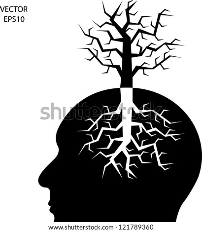 Silhouette of a head isolated on white background,the concept of business icon,business symbol,vector - stock vector