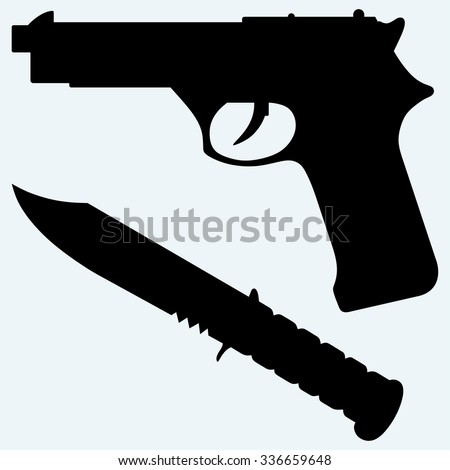Knife Silhouette Stock Images Royalty Free Images