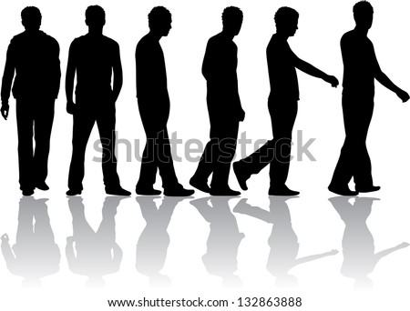 silhouette of a man - stock vector