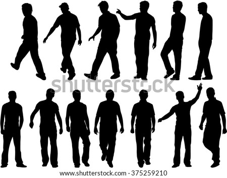 Silhouette of a man. - stock vector
