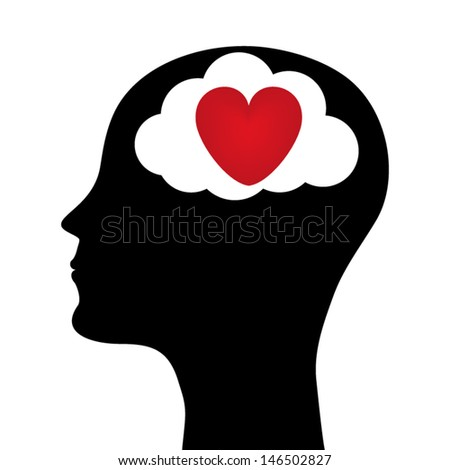 silhouette of a man head. vector