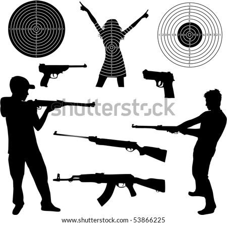 Shotgun vector Stock Photos, Images, & Pictures | Shutterstock