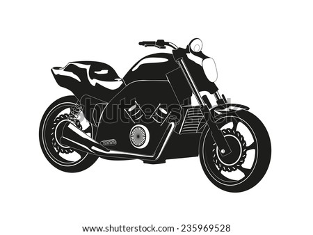 silhouette of a motorcycle - stock vector