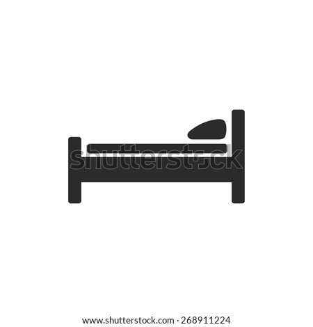 silhouette of bed - stock vector