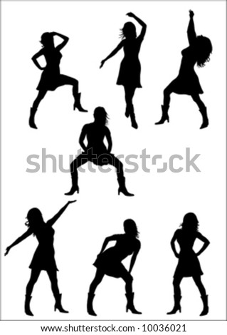 silhouette of black sexy girl
