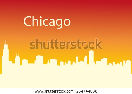 silhouette of Chicago city - stock vector