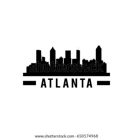 Atlanta, City, Silhouette, Skyline & Usa Vector Images (36)