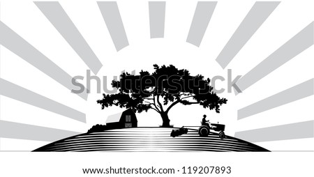 Farm House Silhouette Stock Images, Royalty-Free Images & Vectors ...