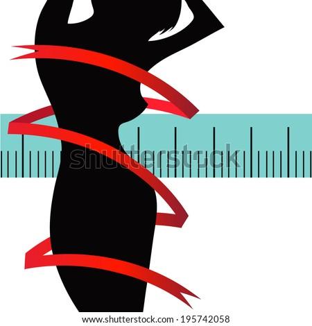 silhouette of girl - stock vector