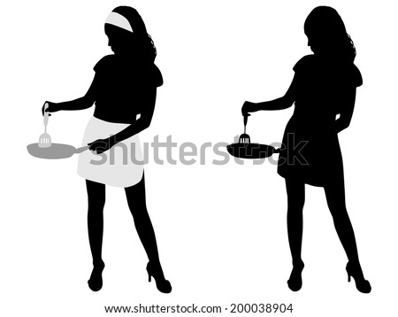 Stock Images similar to ID 102973235 - cartoon of a woman ...