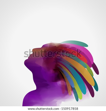 Silhouette of man, eps10 vector - stock vector