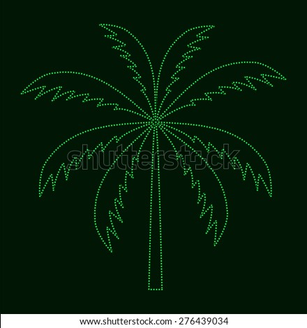 Silhouette of Palm Tree. Vector illustration. EPS10