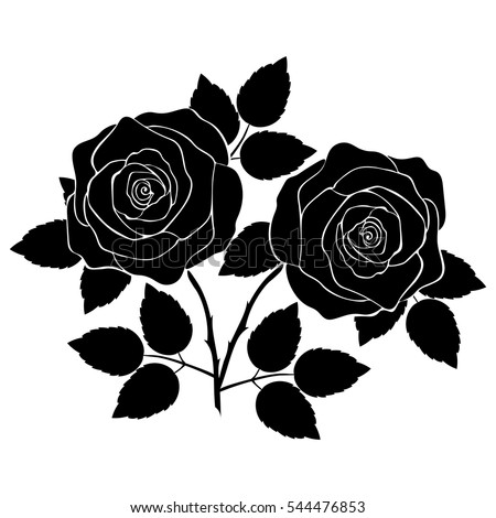 rose silhouette stock images, royalty-free images & vectors