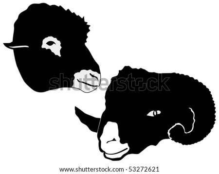 Sheep Vector Silhouette Silhouette of Sheep