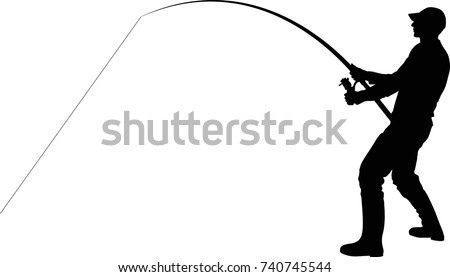 silhouette of the angler