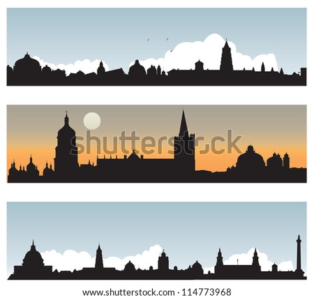 Silhouette of the city. Vector illustration - stock vector