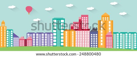 Silhouette of the city vector illustration - stock vector