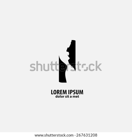silhouette of the girl, vector illustration for your design - stock vector