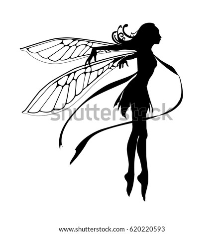 silhouette graceful fairy vector illustration stock photo photo rh shutterstock com ferry victoria to port angeles ferry victoria bc