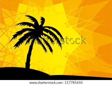 Silhouette of the palm