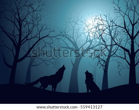 Wolf Silhouette Stock Images, Royalty-Free Images ...