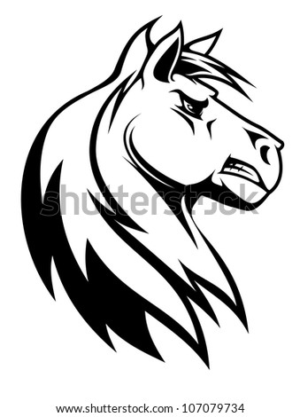 Silhouette of white horse for equestrian sports design, such logo. Jpeg version also available in gallery - stock vector