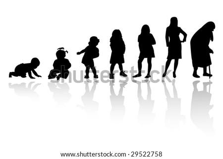 silhouette person - stock vector