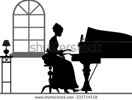 Silhouette Piano Player Stock Photos  Illustrations  and Vector ArtPlaying Piano Silhouette