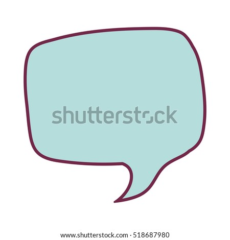 silhouette rounded rectangle callout for dialogue background blue