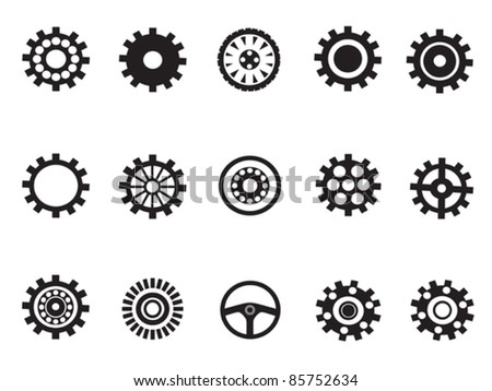 silhouetted vector of Machine Gear - stock vector