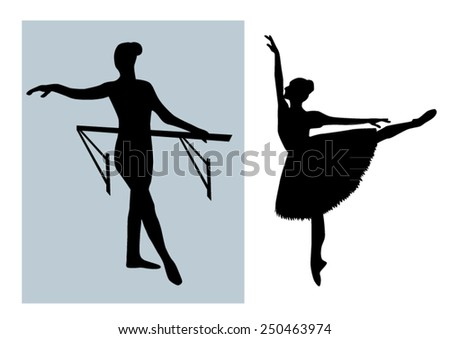 Silhouettes Ballet dance girls design