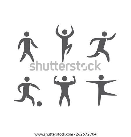 Silhouettes figures of athletes popular sports - stock vector