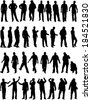 Silhouettes of a man. - stock photo