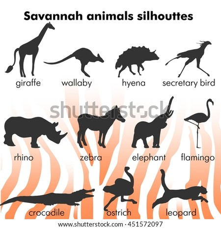 silhouettes of animals shrouds