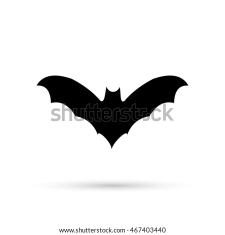 silhouettes of bats icon
