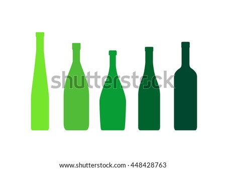 silhouettes of bottles on a white background
