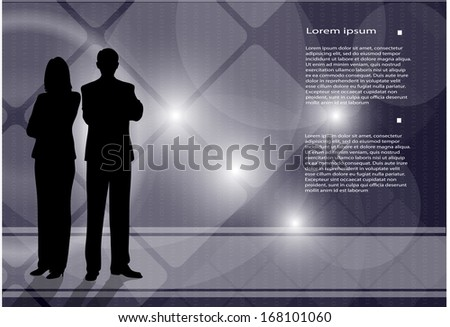 silhouettes of businessmen on an abstract background