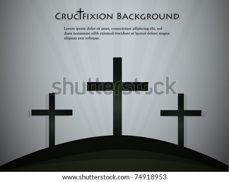 Silhouettes of crosses. Vector illustration - stock vector