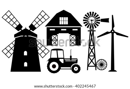 Windmill Silhouette Stock Images, Royalty-Free Images & Vectors ...