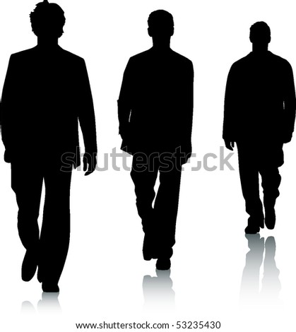 Silhouettes of men - stock vector