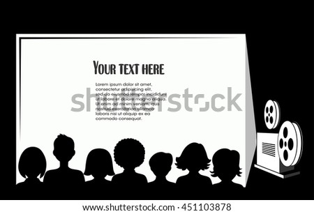 silhouettes of people in the cinema