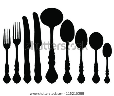 Silhouette of a spoon Stock Photos, Images, & Pictures | Shutterstock