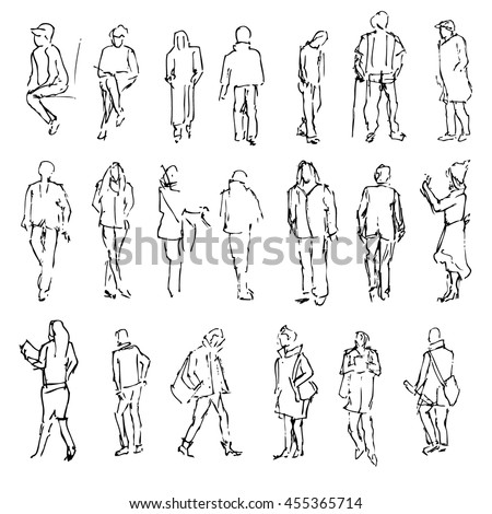 Sketch People Stock Images Royalty-Free Images U0026 Vectors   Shutterstock