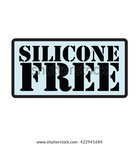 silicone free stamp - stock vector