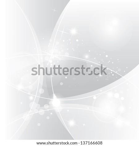 Silver abstract vector background - stock vector
